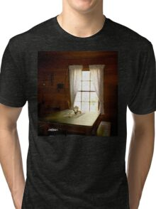 Light in the Cabin Window Tri-blend T-Shirt