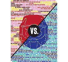 Red Vs. Blue Photographic Print