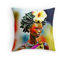 SALIHAH FAIZA:AFRICAN FASHION WEEK Throw Pillow