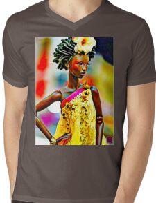 SALIHAH FAIZA:AFRICAN FASHION WEEK Mens V-Neck T-Shirt