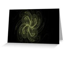 Pinwheel..CGI fractal flame Greeting Card
