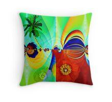 Tropical moods Throw Pillow