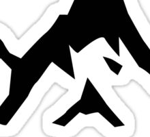 Skiing Mountain Mountains Ski Snowboard Silhouette Sticker