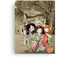 Girlfriends in Tuscany... Canvas Print