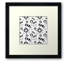 Graphic pigeons and circles Framed Print