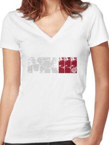 MKIII (white) Women's Fitted V-Neck T-Shirt