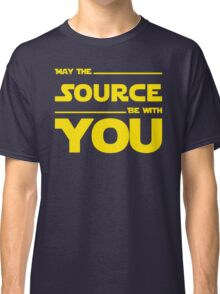 May The Source Be With You - Stars Wars Parody for Programmers Classic T-Shirt