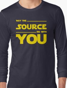 May The Source Be With You - Stars Wars Parody for Programmers Long Sleeve T-Shirt