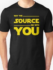 May The Source Be With You - Stars Wars Parody for Programmers Unisex T-Shirt