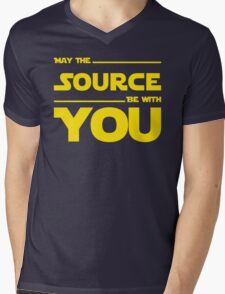 May The Source Be With You - Stars Wars Parody for Programmers Mens V-Neck T-Shirt