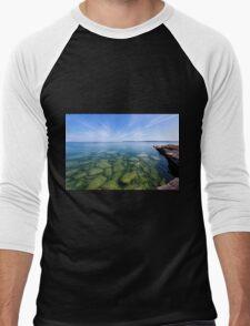 Serenity in Lake Superior Men's Baseball ¾ T-Shirt