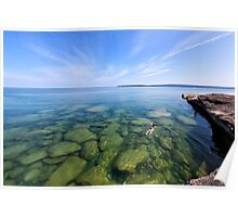 Serenity in Lake Superior Poster