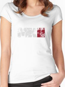 MKII (white) Women's Fitted Scoop T-Shirt