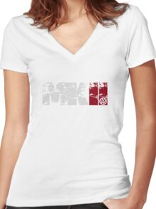 MKII (white) Women's Fitted V-Neck T-Shirt