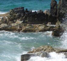 Caribbean coastal spray Sticker