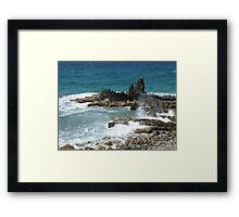 Caribbean coastal spray Framed Print