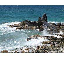 Caribbean coastal spray Photographic Print