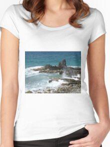 Caribbean coastal spray Women's Fitted Scoop T-Shirt