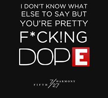 FIFTH HARMONY LYRICS #4 - Dope Womens Fitted T-Shirt