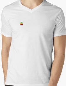 Apple / Rainbow Mens V-Neck T-Shirt