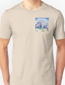 Manatee Mom and Baby 5x5 Colored Pencil Unisex T-Shirt