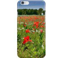 Poppy Field Near Cividale iPhone Case/Skin
