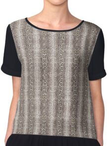 Snake Skin Cool Art Chiffon Top