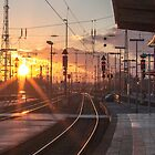 sunny railway by lockstockbarrel