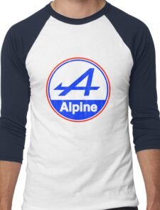 Alpine Cutout French Color Graphic Men's Baseball ¾ T-Shirt
