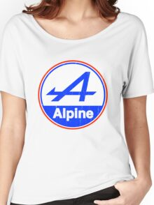 Alpine Cutout French Color Graphic Women's Relaxed Fit T-Shirt