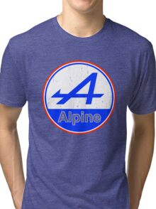 Alpine Cutout French Color Graphic Tri-blend T-Shirt