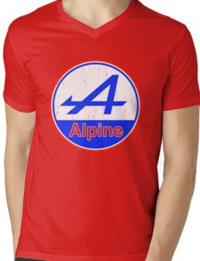 Alpine Cutout French Color Graphic Mens V-Neck T-Shirt