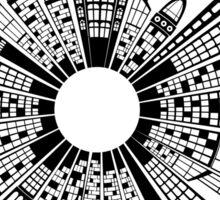 City Buildings Art Sticker