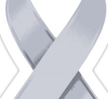 Silver Awareness Ribbon of Support Sticker