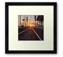 sunset track Framed Print