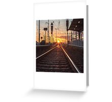 sunset track Greeting Card