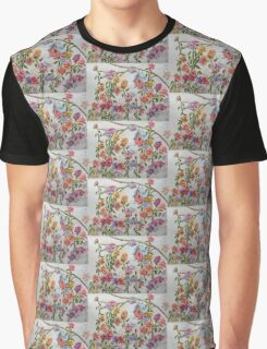 PAW-SCH - RED BIRD HOUSE HIDING IN THE FLOWERS Graphic T-Shirt