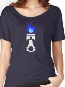Flaming Piston (nitrous white) Women's Relaxed Fit T-Shirt