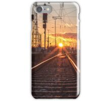 sunset track iPhone Case/Skin