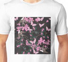 Oriental birds, flowers and butterflies Unisex T-Shirt