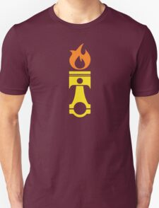 Flaming Piston (fire) T-Shirt
