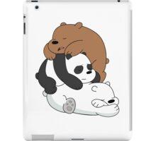 Sleeping Bare Bears - White iPad Case/Skin