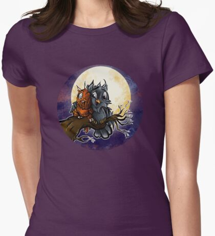 Owlymoon Womens Fitted T-Shirt