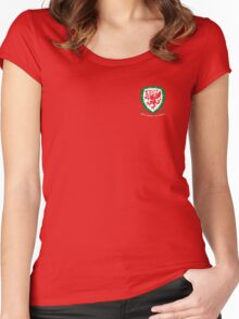 Euro 2016 Wales Women's Fitted Scoop T-Shirt