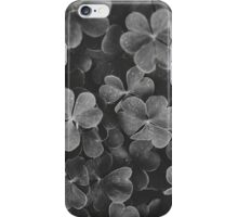 Lucky Gray Clover Patch iPhone Case/Skin