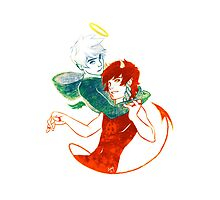 Angel & Devil by lucidorange
