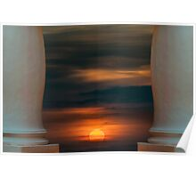 Peaceful Sunset Scene Viewpoint Poster