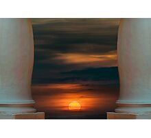 Peaceful Sunset Scene Viewpoint Photographic Print
