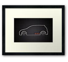GTI Tartan  Framed Print