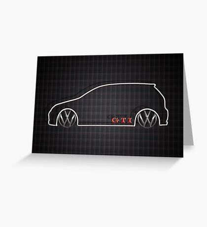 GTI Tartan  Greeting Card